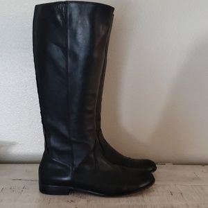 Kenneth Cole tall black leather riding boots 9.5m